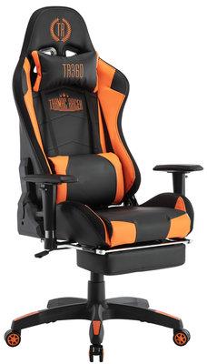 Bureaustoel Turbo LED Zwart/Oranje,Kunstleder