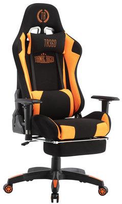 Bureaustoel Turbo LED Zwart/Oranje,Stoff