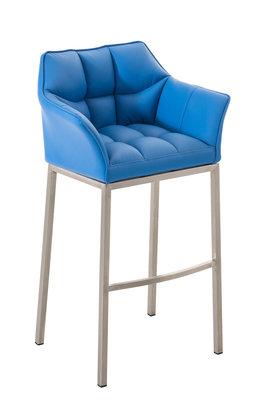 Barkruk Damaso Kunstleer Blauw,Metaal