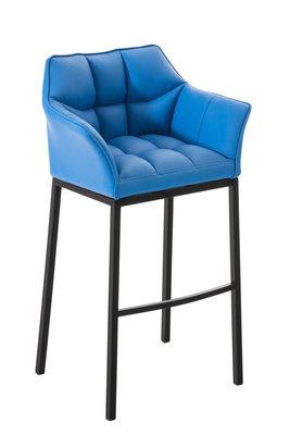 Barkruk Damaso Kunstleer Blauw,Zwart