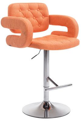 Barkruk Diblun Stof Oranje,Chroom