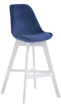 Barkruk Cennas Fluweel Blauw,Wit