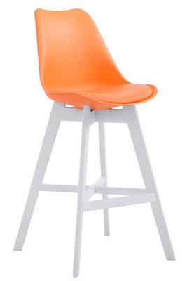 Barkruk Cennas Kunststof Oranje,Wit