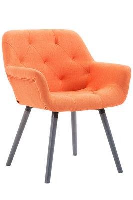 Bezoekersstoel Cissady Stof Oranje,Grijs