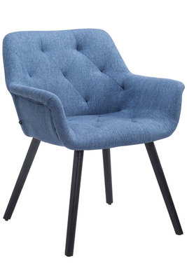 Bezoekersstoel Cissady Stof Blauw,Zwart (eiche)