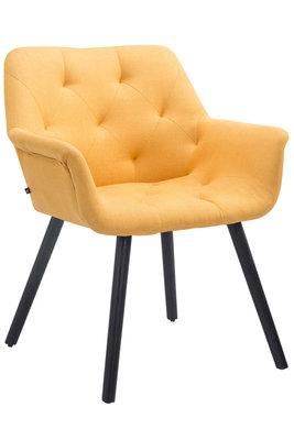 Bezoekersstoel Cissady Stof Geel,Zwart (eiche)