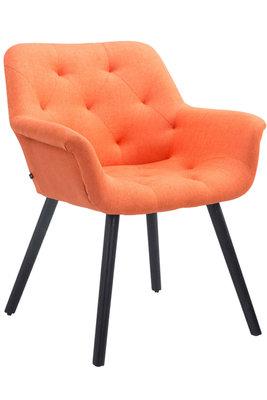 Bezoekersstoel Cissady Stof Oranje,Zwart (eiche)