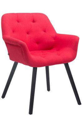 Bezoekersstoel Cissady Stof Rood,Zwart (eiche)