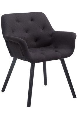Bezoekersstoel Cissady Stof Zwart,Zwart (eiche)