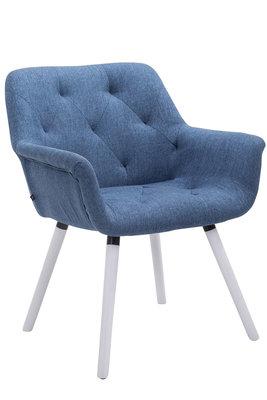 Bezoekersstoel Cissady Stof Blauw,Wit (eiche)