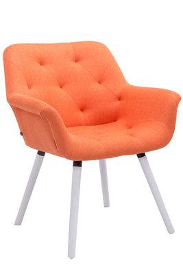 Bezoekersstoel Cissady Stof Oranje,Wit (eiche)