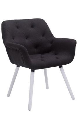Bezoekersstoel Cissady Stof Zwart,Wit (eiche)