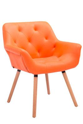 Eetkamerstoel Cissady Kunstleer Oranje,natura (eiche)