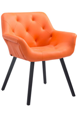 Eetkamerstoel Cissady Kunstleer Oranje,Zwart (eiche)