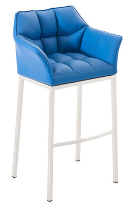 Barkruk Domasa Kunstleer Blauw,Wit