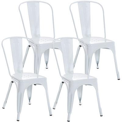 Set van 4 Binedekt stoelen Wit