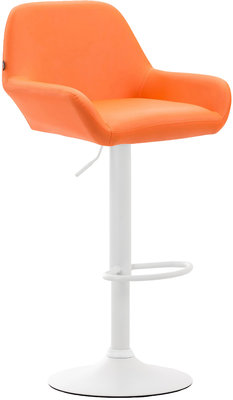 Barkruk Brigi Kunstleer Oranje,Wit