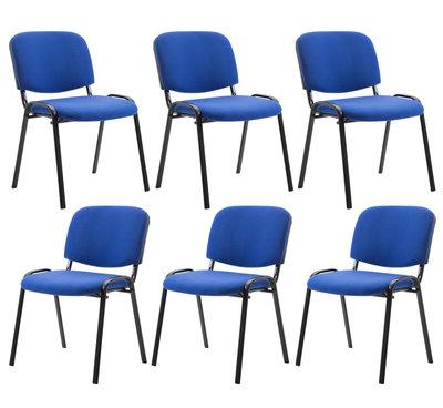 Kin set van 6 bezoekersstoelen Blauw