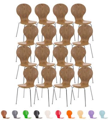 Set van 16 bezoekersstoelen Doegi eiche,