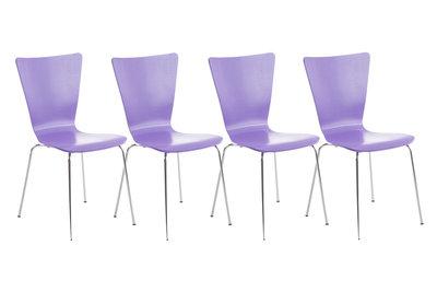 4x bezoekersstoel Oaran Paars