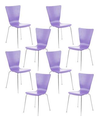 8x bezoekersstoel Oaran Paars