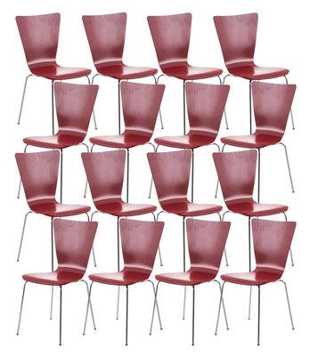 16x bezoekersstoel Oaran Rood