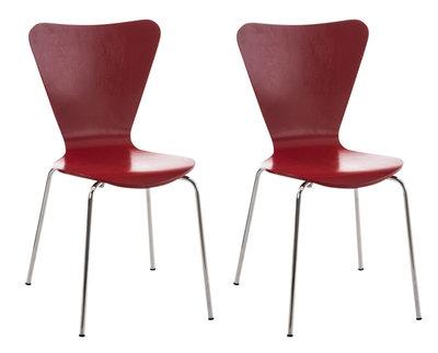 2x bezoekersstoel Colista Rood