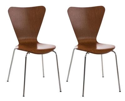2x bezoekersstoel Colista Bruin