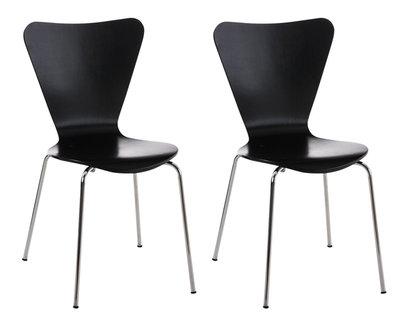 2x bezoekersstoel Colista Zwart