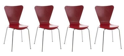 4x bezoekersstoel Colista Rood