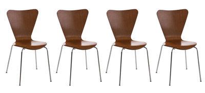 4x bezoekersstoel Colista Bruin