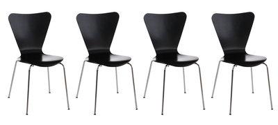 4x bezoekersstoel Colista Zwart