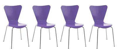 4x bezoekersstoel Colista Paars