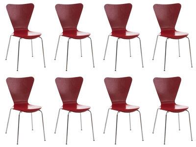 8x bezoekersstoel Colista Rood