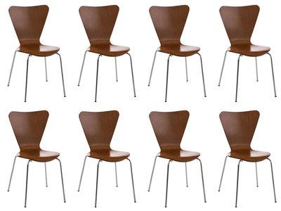 8x bezoekersstoel Colista Bruin