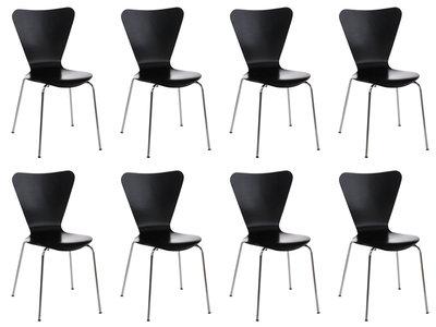 8x bezoekersstoel Colista Zwart