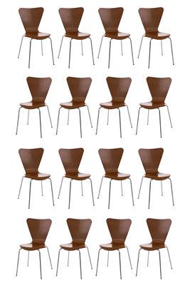 16x bezoekersstoel Colista Bruin