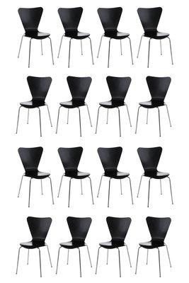 16x bezoekersstoel Colista Zwart