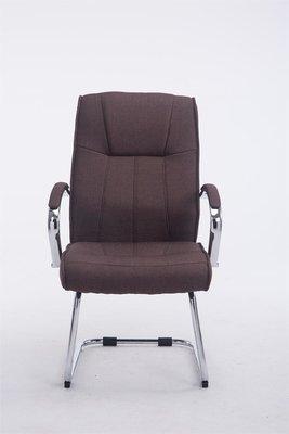 Bezoekersstoel Besal V2 stof Bruin