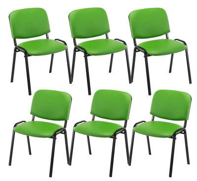 Set van 6 Bezoekersstoel Kin stof Groen