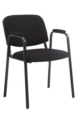 Bezoekersstoel Kin Pro stof Zwart