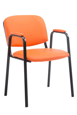 Bezoekersstoel Kin Pro kunstleder Oranje
