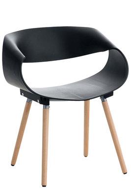 Bezoekersstoel Tavu Zwart
