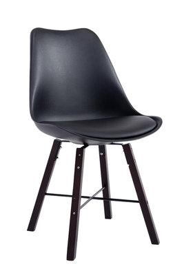 Bezoekersstoel Loffant Zwart,cappuccino