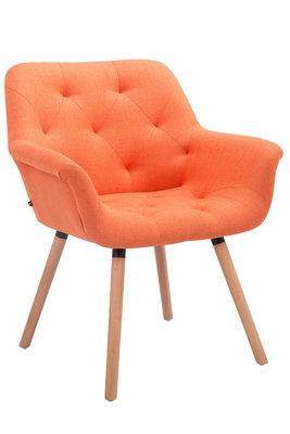 Bezoekersstoel Cissady Stof Oranje,natura
