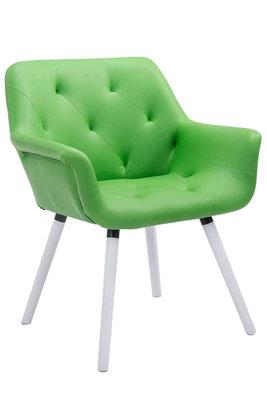 Eetkamerstoel Cissady Kunstleer Groen,Wit