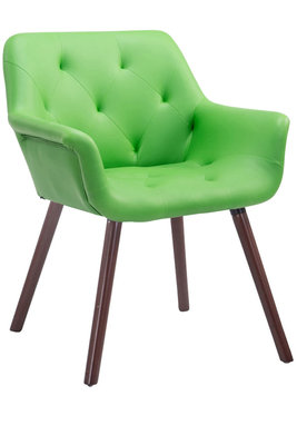 Eetkamerstoel Cissady Kunstleer Groen,walnuss