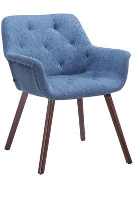 Bezoekersstoel Cissady Stof Blauw,walnuss
