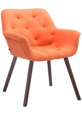 Bezoekersstoel Cissady Stof Oranje,walnuss