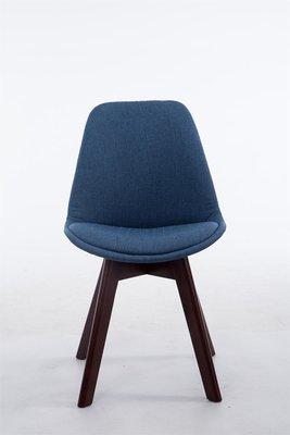 Bezoekersstoel Birnii V2 Stof Blauw,walnuss